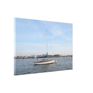 Classic Weekend Sailboat Canvas Print