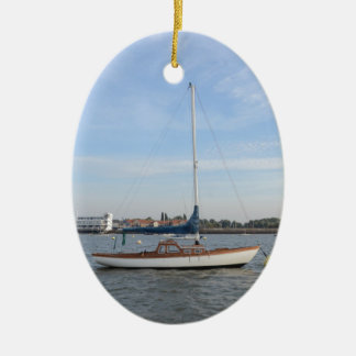 Classic Weekend Sailboat Christmas Tree Ornament