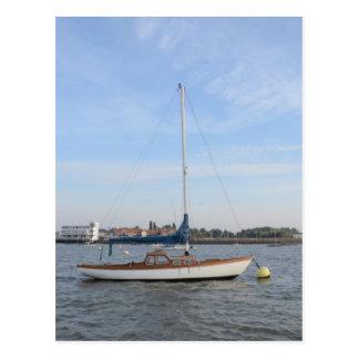 Classic Weekend Sailboat Postcard