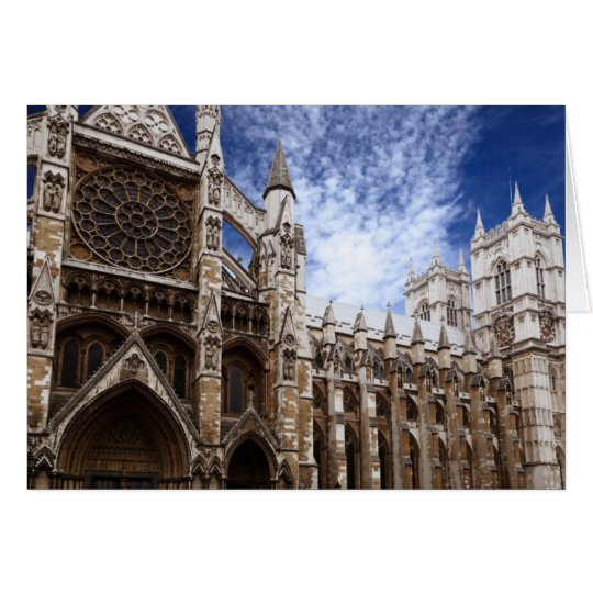Classic Westminster Abbey photograph London UK Card