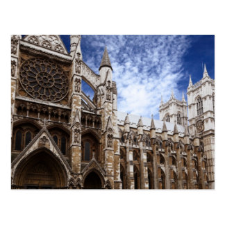 Classic Westminster Abbey photograph London UK Postcard