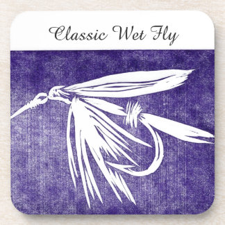 """""""Classic Wet Fly - Purple"""" Trout Fly Coaster"""