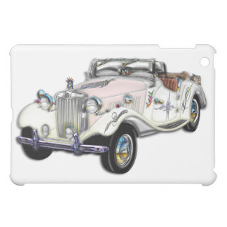 Classic White and Gold MG Convertible iPad Mini Cover