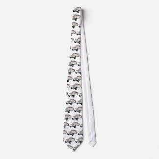 Classic White and Gold MG Convertible Neck Tie