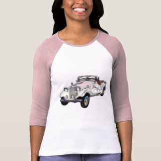 Classic White and Gold MG Convertible T Shirt