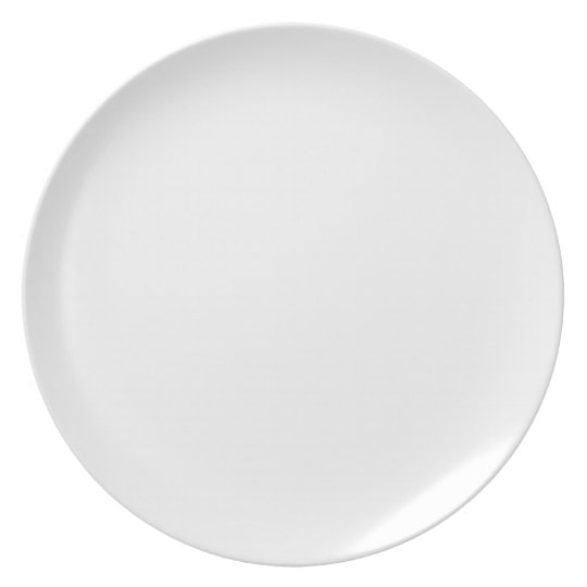 Classic White Background on a Plate