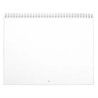 Classic White Backgrounds on a Calendar