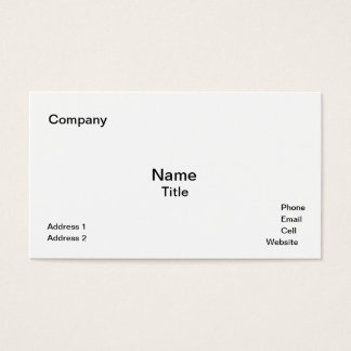 Classic White Business Cards Template