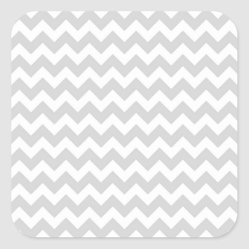 Classic White Chevrons ;) Customize This! Square Stickers