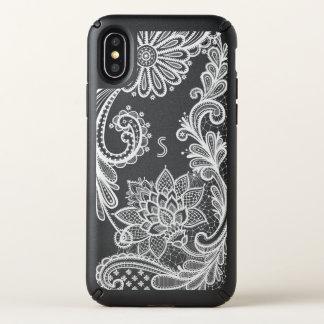 Classic White Floral Lace Applique Monogram II Speck iPhone X Case
