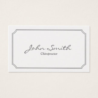 Classic White Frame Chiropractor Business Card