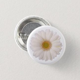 Classic White Gerbera Daisy Flower Pinback Button