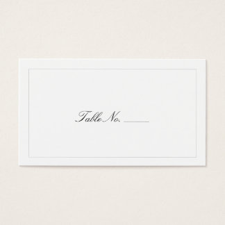 Classic White Guest Escort Cards