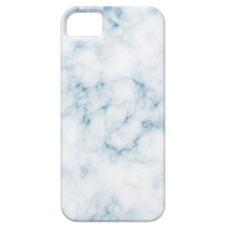 Classic White Marble w Fine Blue Veins iPhone SE/5/5s Case