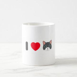 Classic white mug 325 ml - Design I love cat