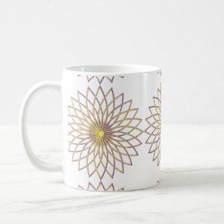 Classic White Mug GEOMETRIC CIRCLE FLOWER