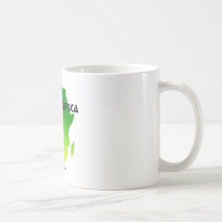classic white mug with Africa outline