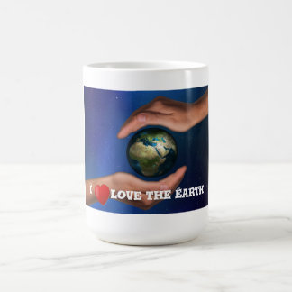 Classic White Mug with I Love the Earth