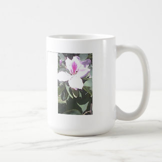 CLASSIC WHITE MUG WITH ORCHID