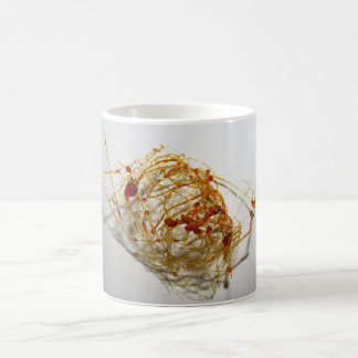 Classic white mug with photographic design.