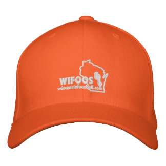Classic White Outline Logo Fitted Hat