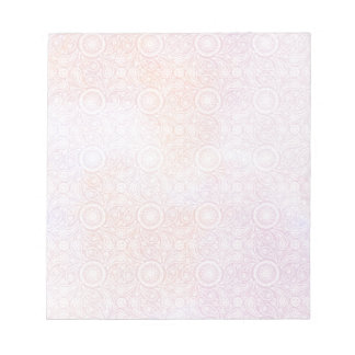 Classic White Paisley colorful backgournd Notepad
