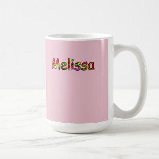 Classic White Pink Mug for Melissa