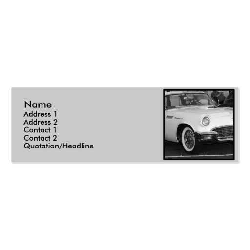 Classic White T-bird Business Cards