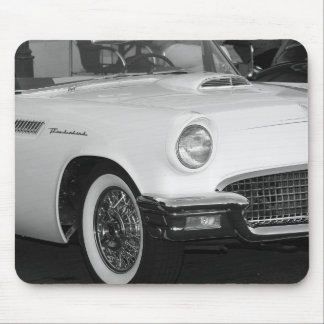 Classic White T-bird Mouse Pad
