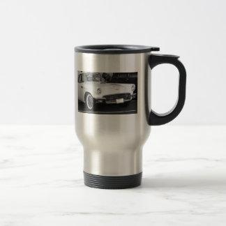 Classic White T-bird Travel Mug
