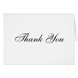 Classic White Thank You Card