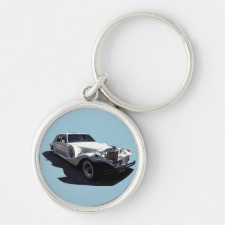 Classic White Tiffany Collectors Car Keychain