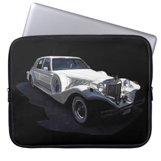 Classic White Tiffany Collectors Car Laptop Computer Sleeve