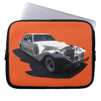 Classic White Tiffany Collectors Car Laptop Computer Sleeves
