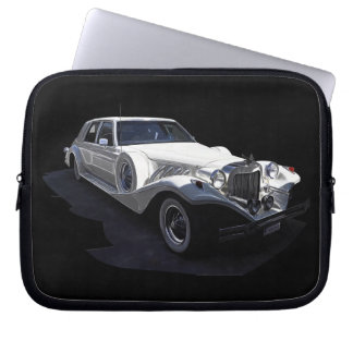 Classic White Tiffany Collectors Car Laptop Sleeve
