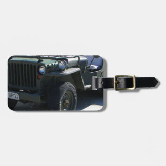Classic Willy's Jeep. Bag Tag