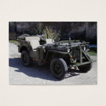 Classic Willys Jeep Business Card