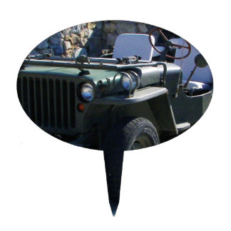 Classic Willy's Jeep. Cake Topper