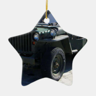 Classic Willy's Jeep. Ceramic Ornament