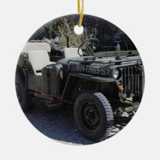 Classic Willys Jeep Ceramic Ornament
