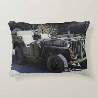 Classic Willys Jeep Decorative Pillow