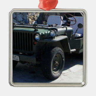 Classic Willy's Jeep. Metal Ornament