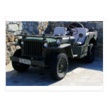 Classic Willy's Jeep. Postcard