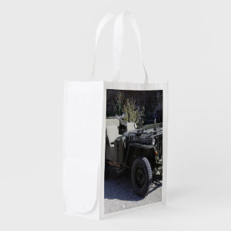 Classic Willys Jeep Reusable Grocery Bag