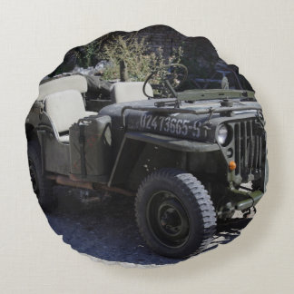 Classic Willys Jeep Round Pillow
