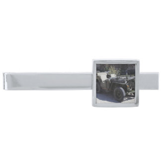 Classic Willys Jeep Silver Finish Tie Clip