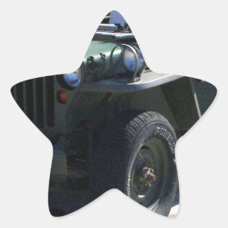 Classic Willy's Jeep. Star Sticker