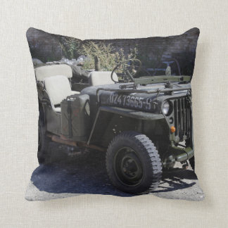 Classic Willys Jeep Throw Pillow