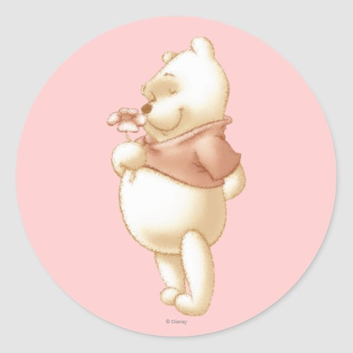 Classic Winnie the Pooh 1 Round Stickers