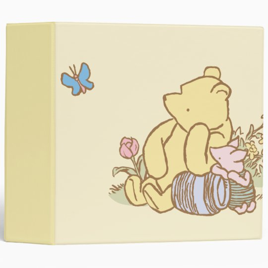 Classic Winnie The Pooh And Piglet 1 3 Ring Binder